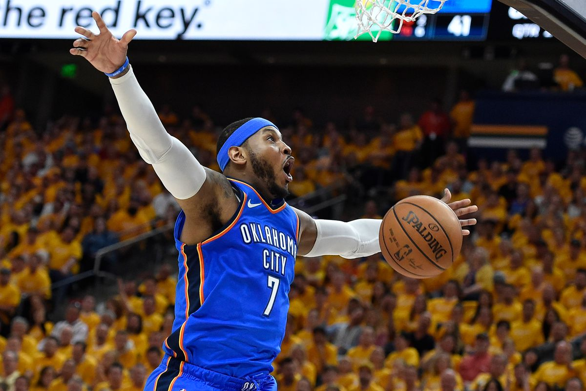 carmelo anthony thunder will trade or release star in 2018 per