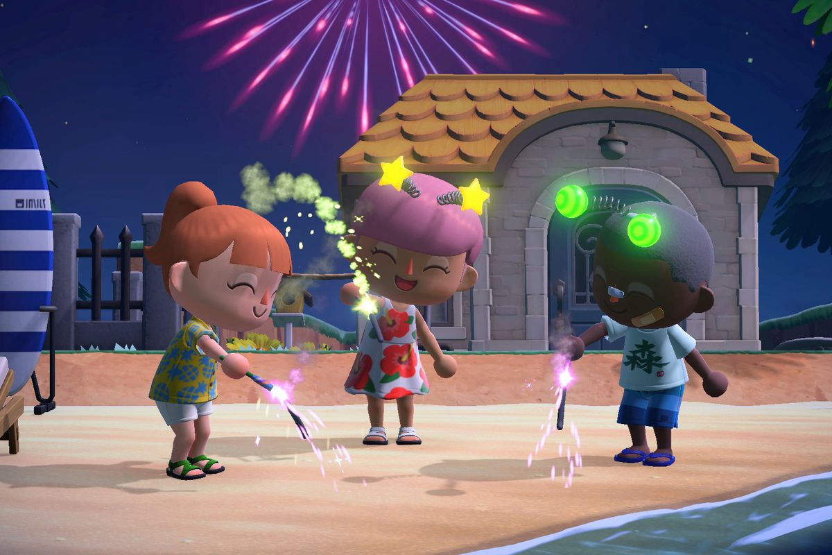 Animal Crossing villagers use poppers.