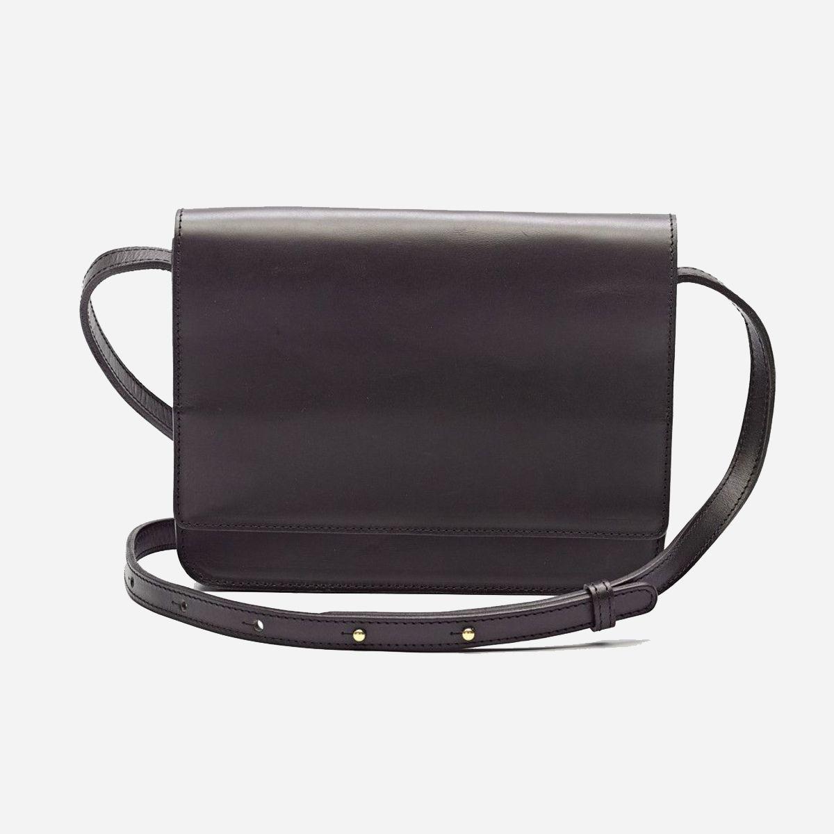 A crossbody satchel