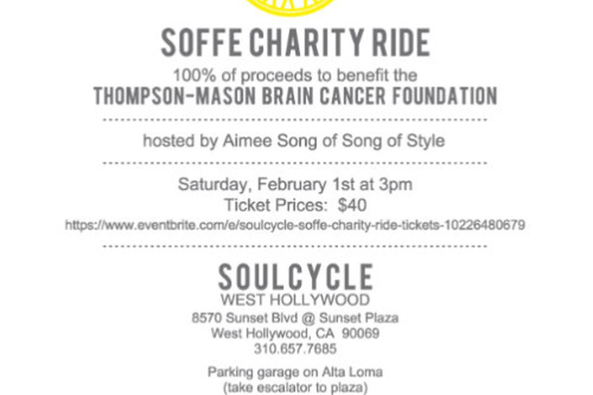 soulcycle ride aimee song lululemon athletica party racked la flyer via soulcyle