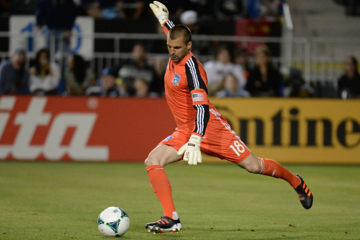 Jon Busch successfully completed 21 passes, including the one to Lenhart that helped create the equalizer.