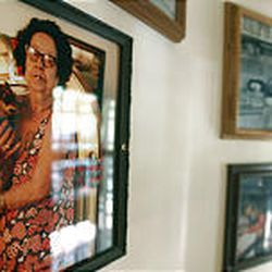 Photos cover the walls of Ruth's Diner which is in Emigration Canyon.