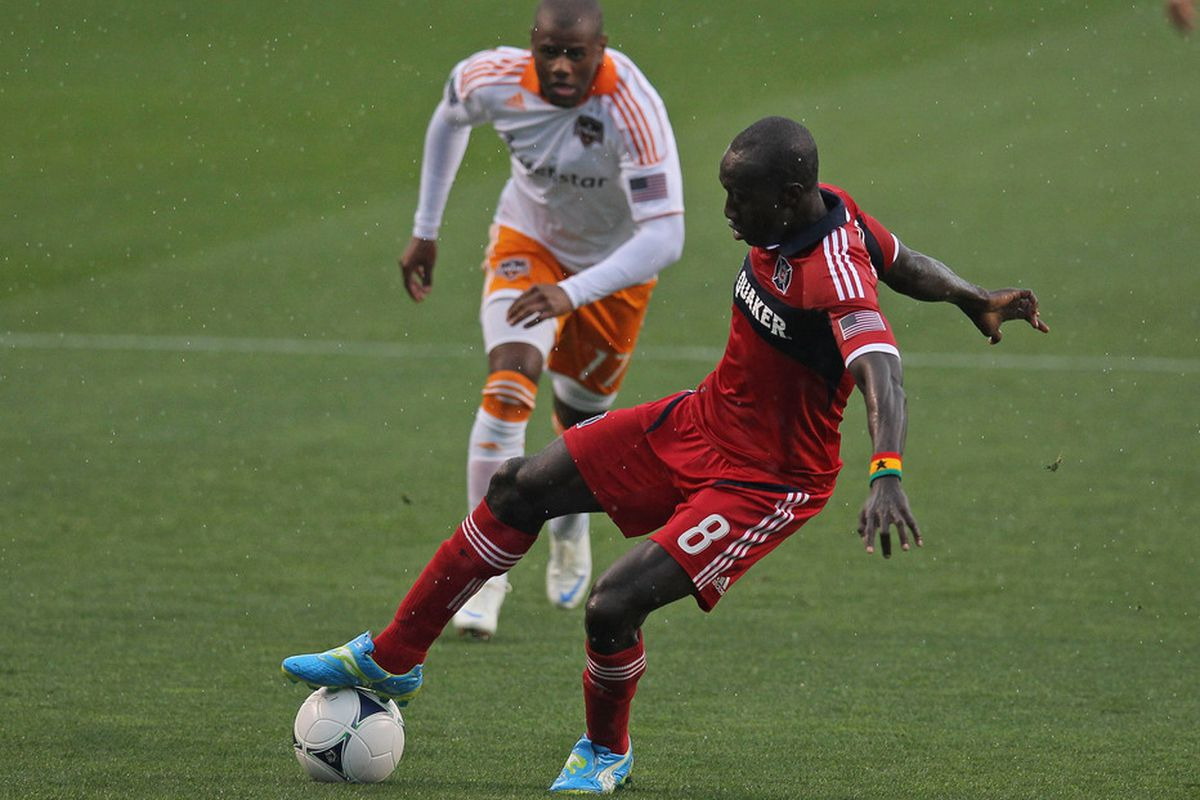 Will Dominic Oduro burn his former team again tonight? (Photo by Jonathan Daniel/Getty Images)