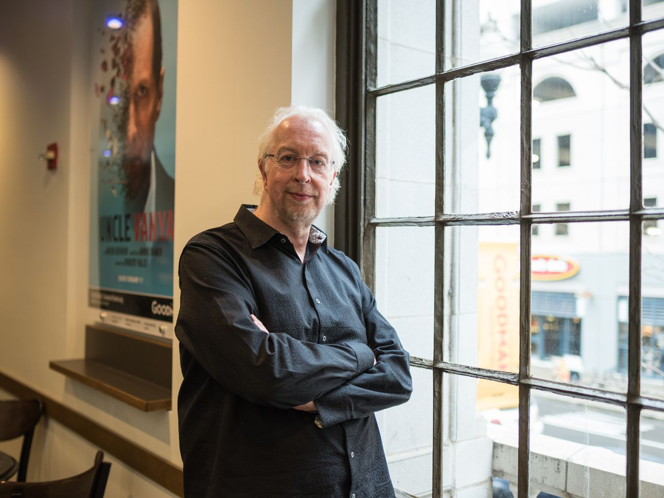 Robert Falls, photographed in 2017 at the Goodman Theatre, is stepping down as the theater's artistic director.