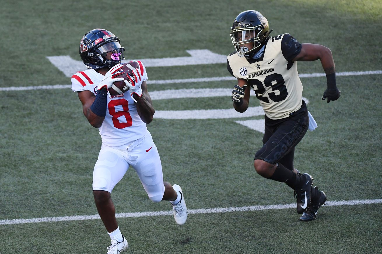 NCAA Football: Mississippi at Vanderbilt