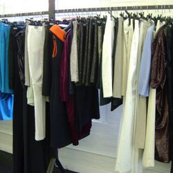 RTW womenswear, with that $7,000 sequin dress near right.