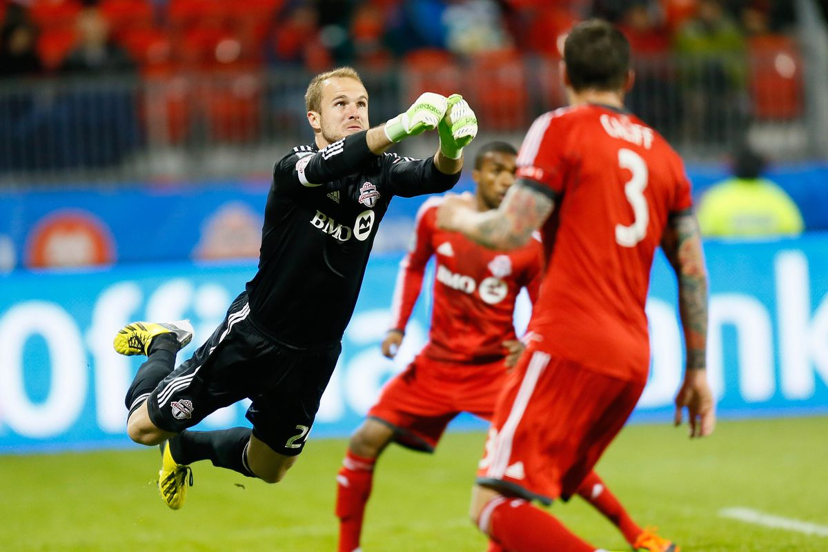 Califf and Frei in what was almost their last TFC game