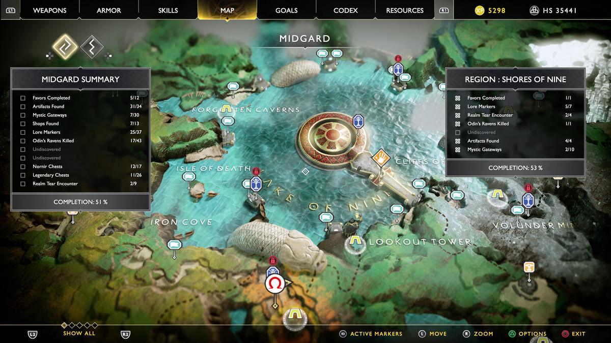 God Of War Lake Of Nine Guide Polygon