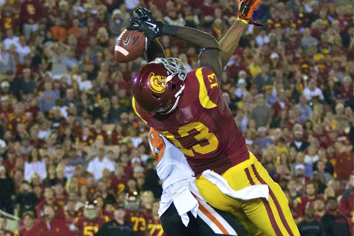 Bryce Dixon makes a big catch against Oregon State.