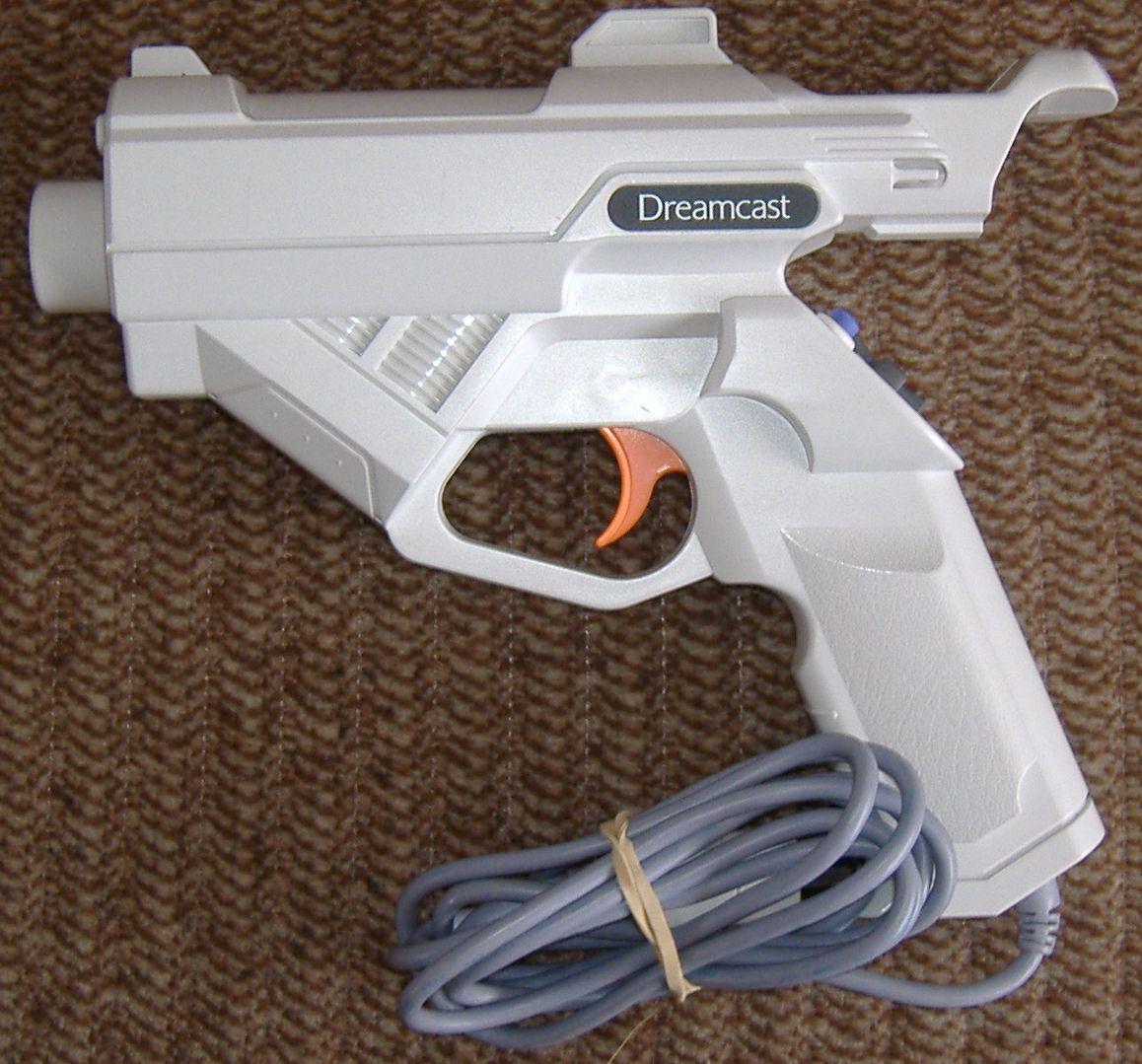 photo of a Sega Dreamcast light gun