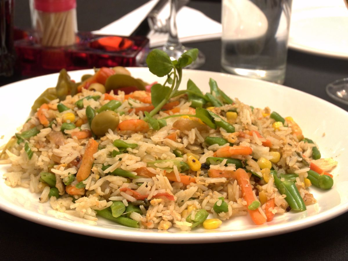 Vegetable rice at The Bash, one of the best value restaurants in north London