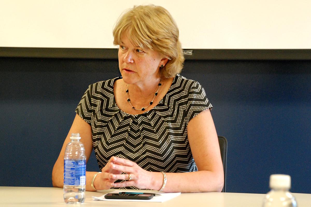 Denver school board president Anne Rowe.