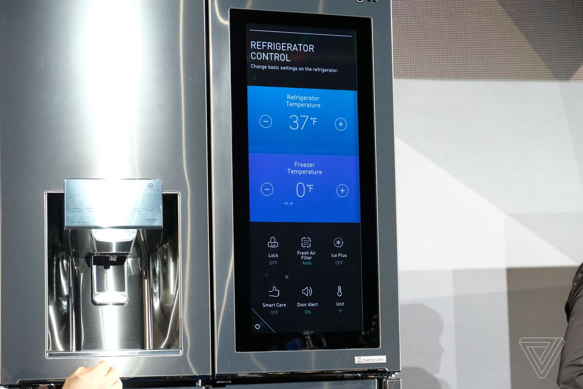 Lg Put Webos And Amazon Alexa On A Fridge The Verge