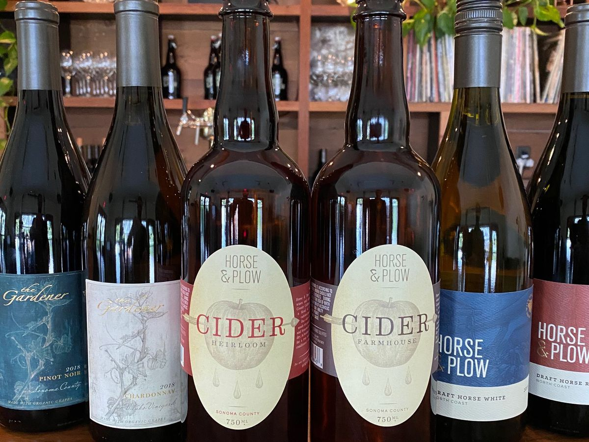 Cider bottles from Horse & Plow