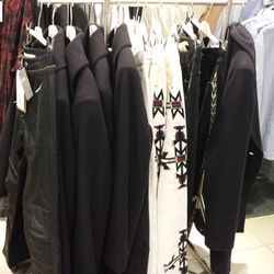 The Americana at Brand has a small selection of Isabel Marant x H&M coats and pants in the men's department.