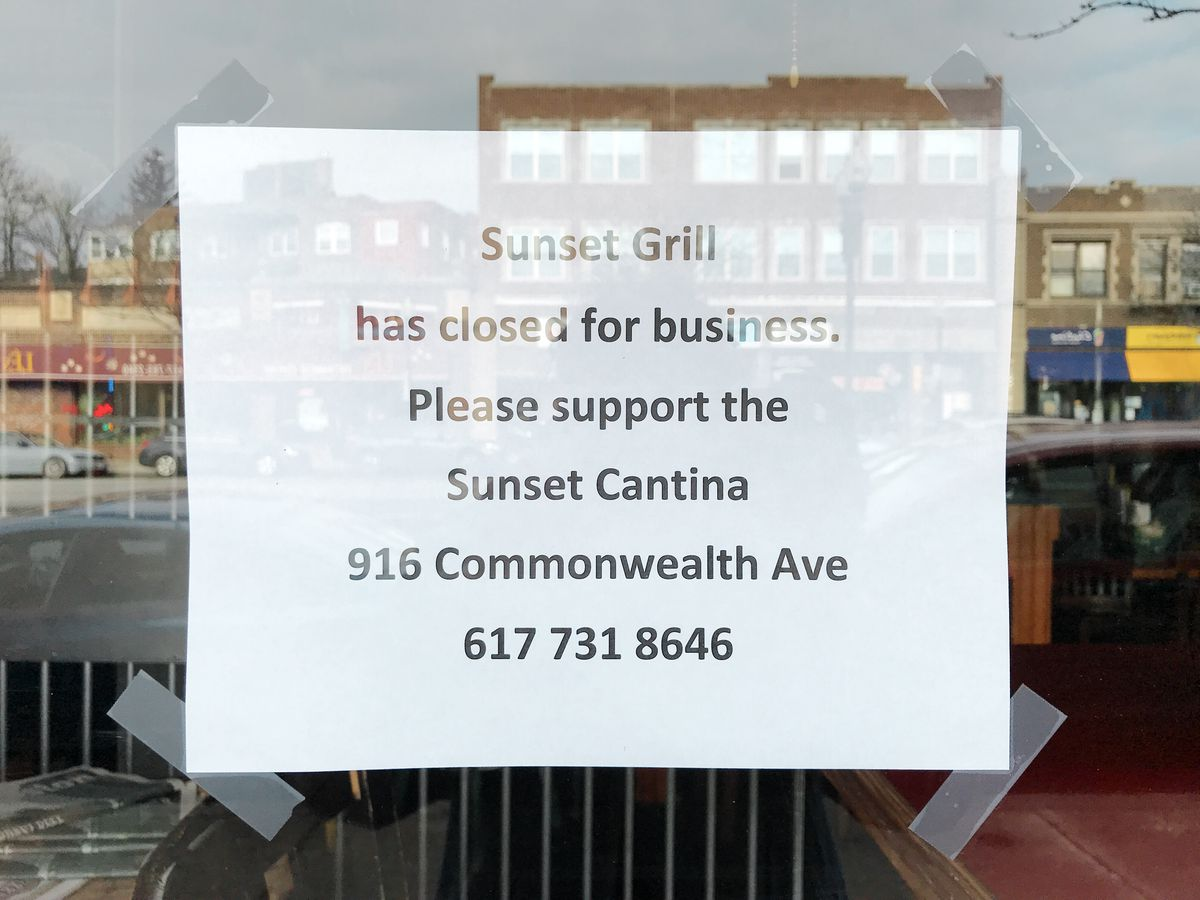Sunset Grill & Tap and Patron\'s Have Closed - Eater Boston