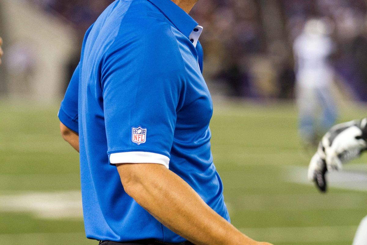Aug 17, 2012; Baltimore, MD, USA; Detroit Lions head coach Jim Schwartz reacts to a call during the second quarter against the Baltimore Ravens at M&T Bank Stadium.  Mandatory Credit: Paul Frederiksen-US PRESSWIRE