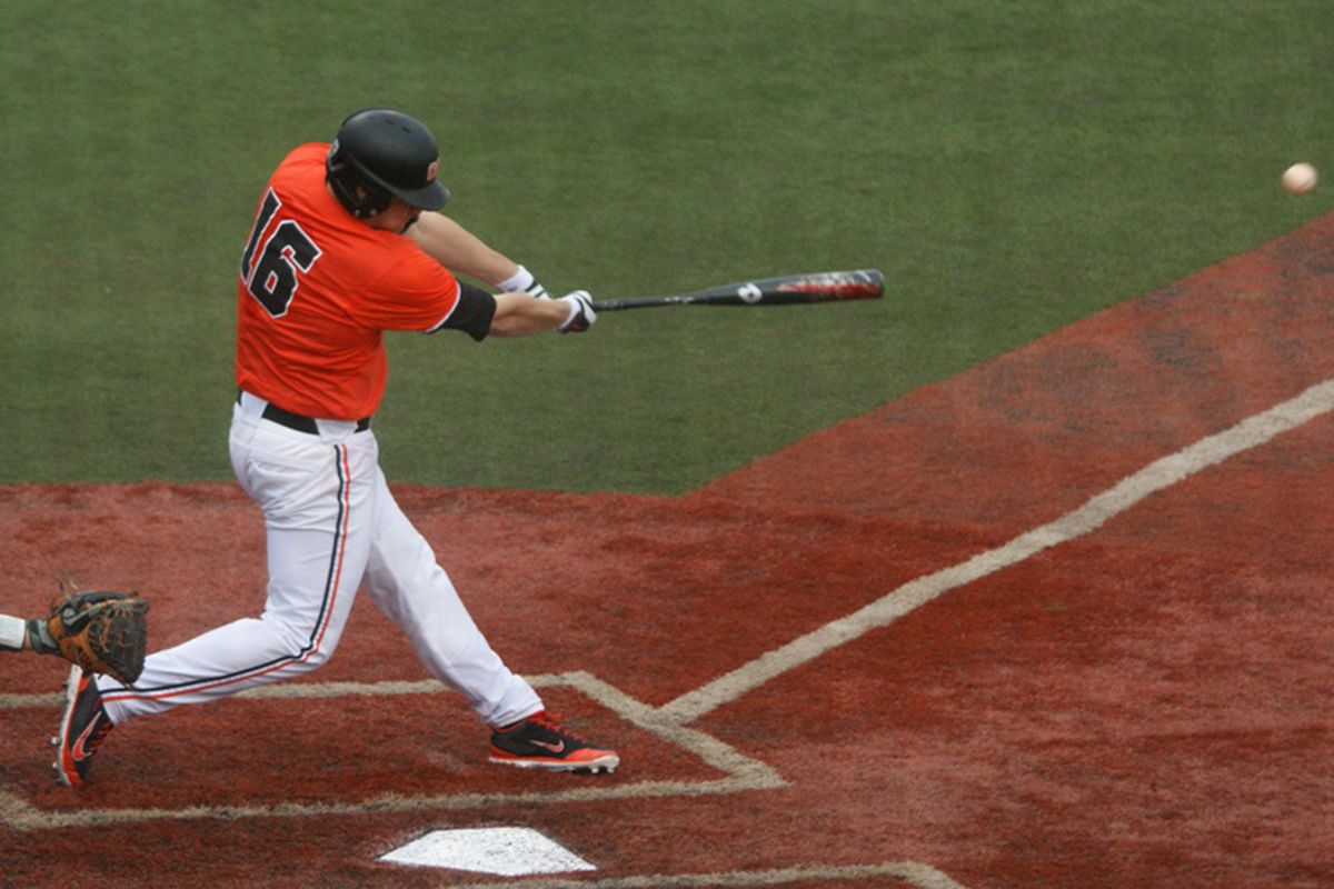 Gabe Clark had an RBI double that began the 3 run 4th inning that broke open Oregon St.'s 5-0 win over Portland.