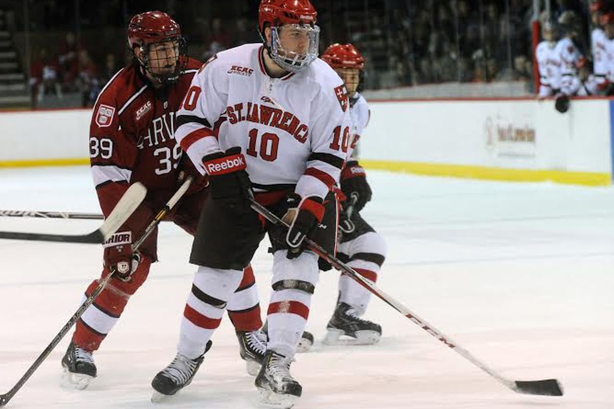 St. Lawrence senior Greg Carey signed with the Phoenix Coyotes on Wednesday.