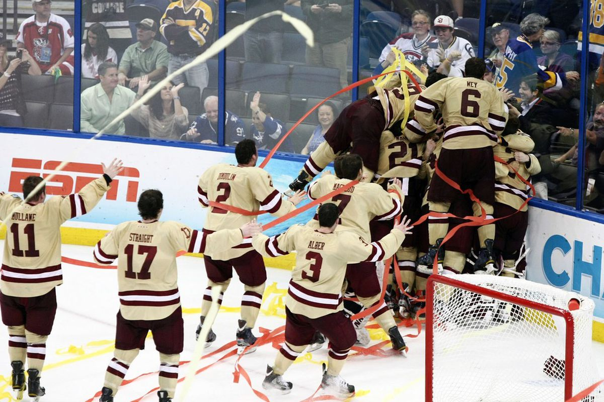 Defending national champ Boston College will face Union on Saturday at Dunkin' Donuts Center in Providence, R.I.