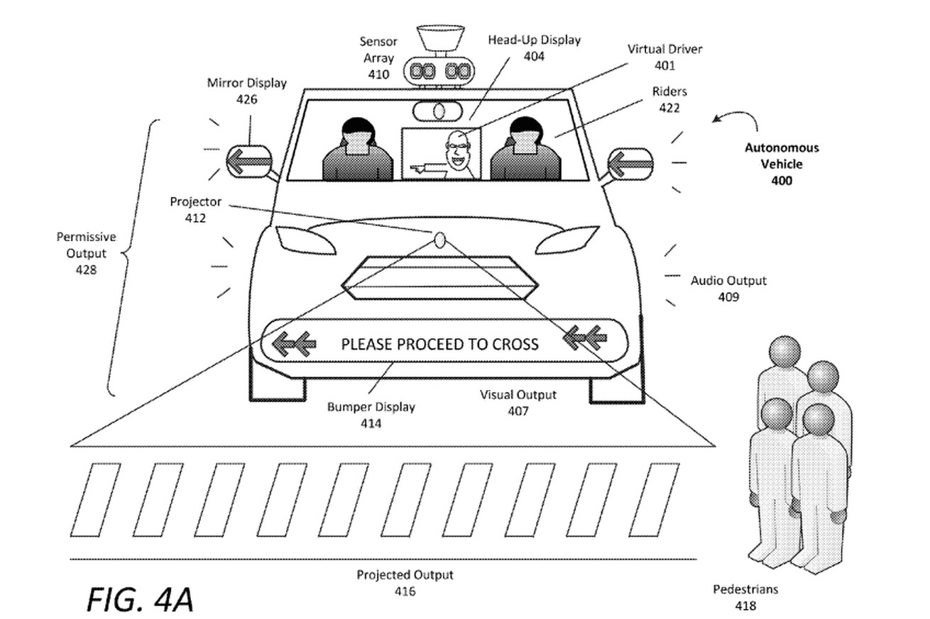 self driving cars will use flashing lights and weird noises to talk to pedestrians