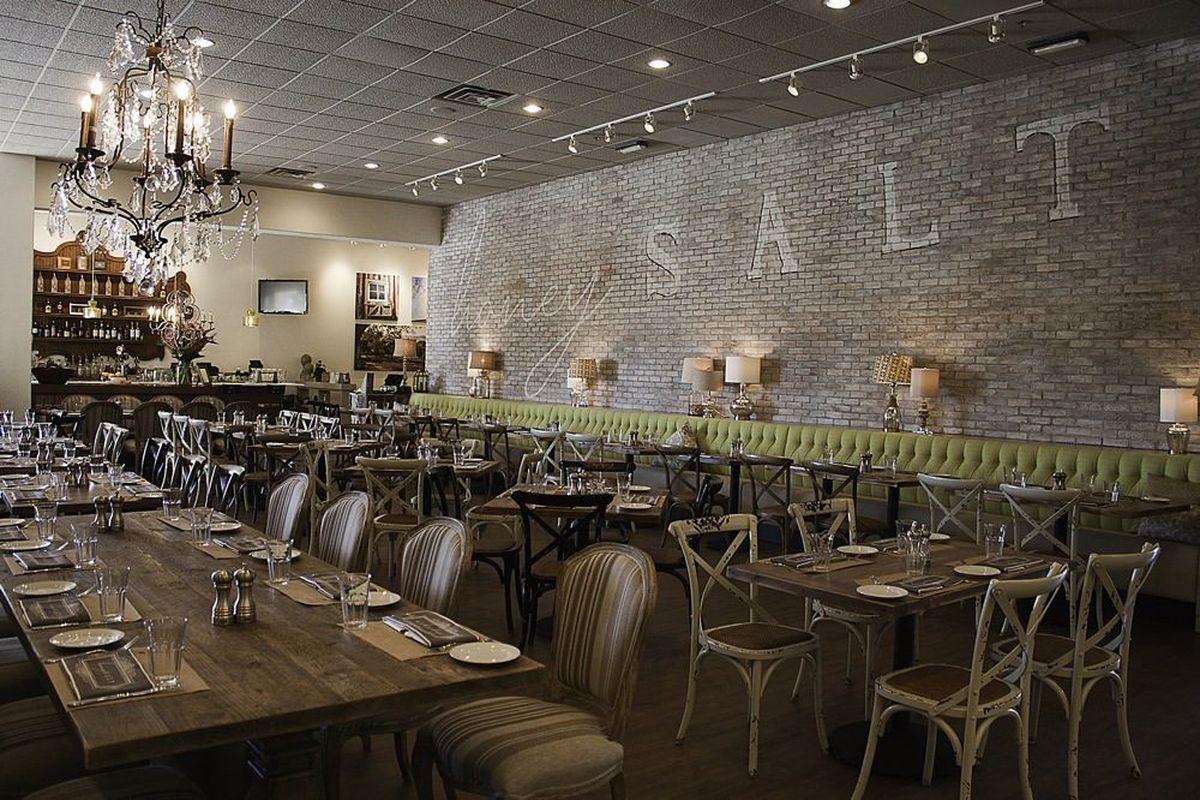 The dining room at Honey Salt.