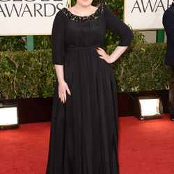 Adele in Burberry for her first public appearance since having her baby