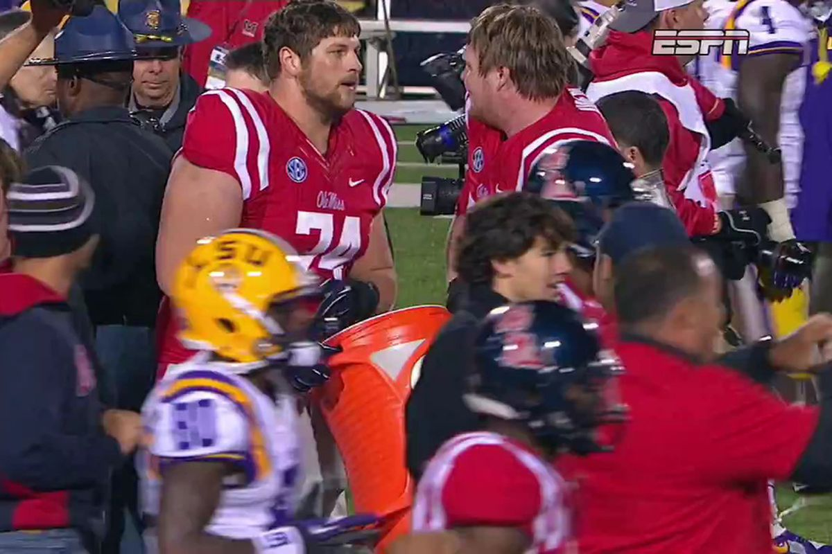 Ole Miss Botches Gatorade Shower After Big Win Over LSU