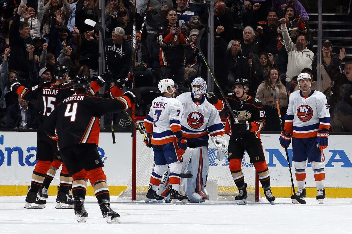 New York Islanders v Anaheim Ducks