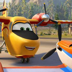 """Dipper and Dusty are part of the firefighting aircraft team in """"Planes: Fire & Rescue."""""""