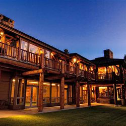Exterior of Jon Huntsman Sr.'s Park City house that has been listed at $55 million.