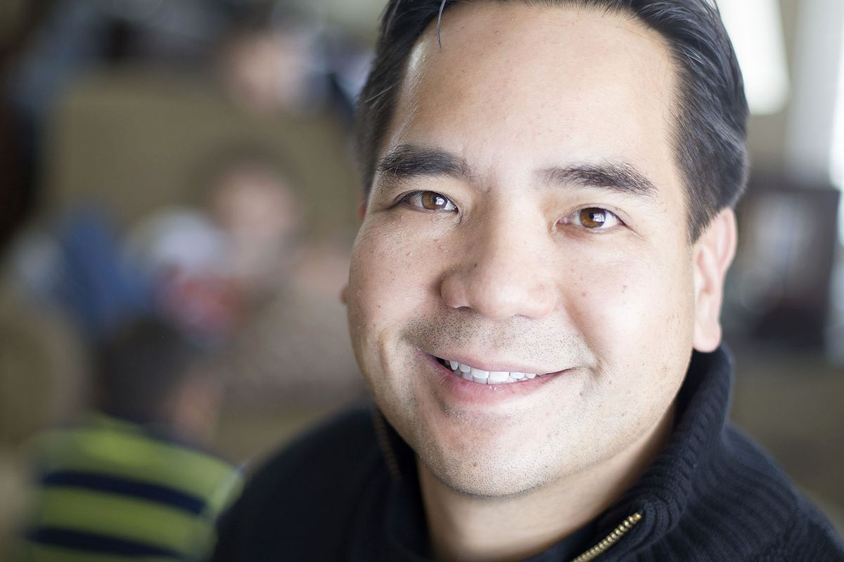 Sean Reyes, the 21st attorney general of Utah, relaxes at home on Thursday, Dec. 31, 2015.