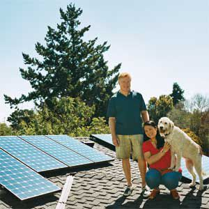 <p>Tom Hammer and Sueling Cho installed 24 solar panels<br> and saw their electricity costs fall by $2,000 a year.</p>