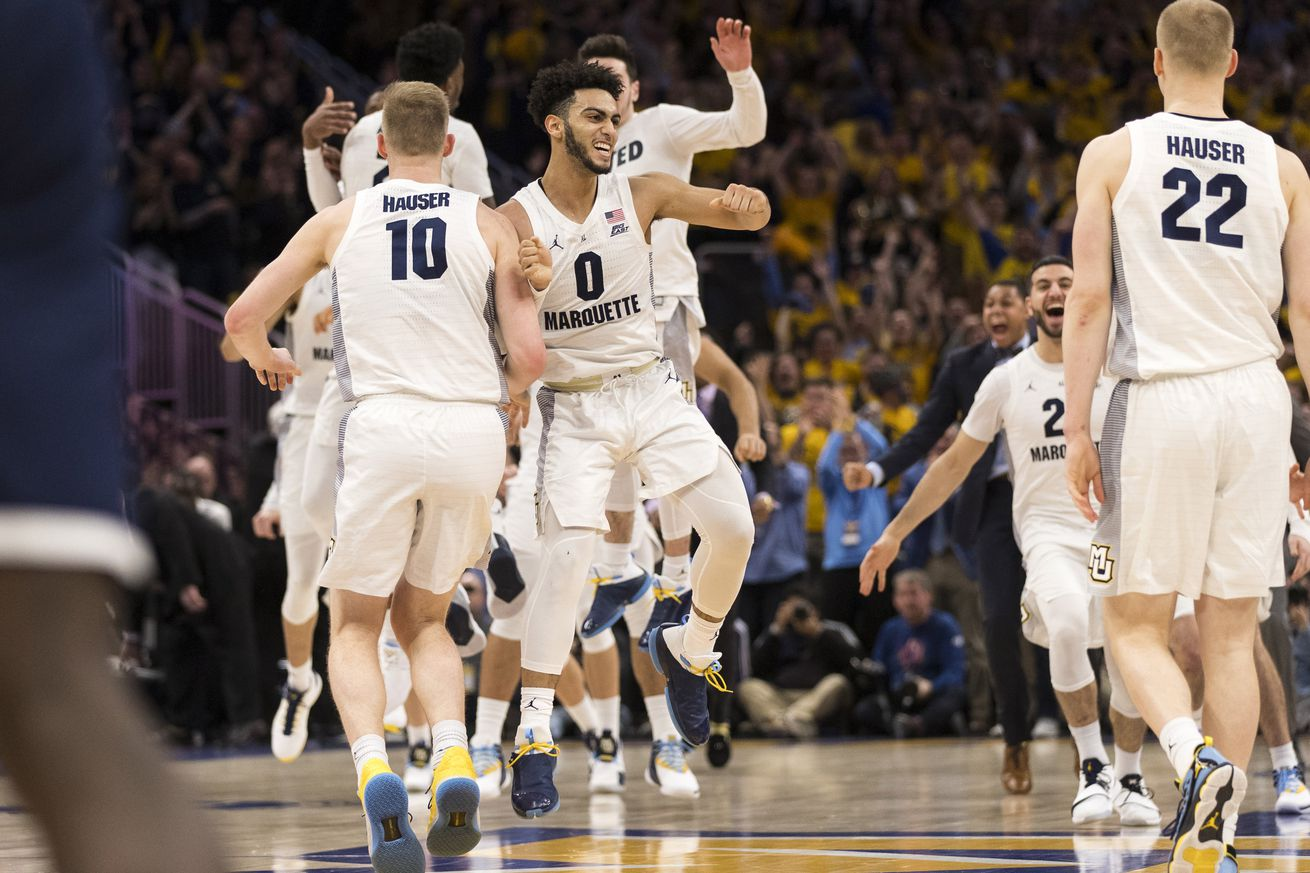 Marquette can wrap up the Big East Tournament's No. 1 seed by sweeping Villanova tonight.