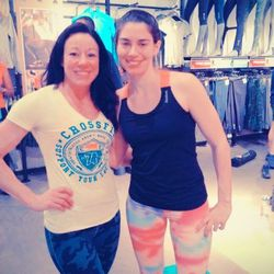 Reebok FitHub's Andrea Ferry and CorePower Yoga's Lauren Jacobs