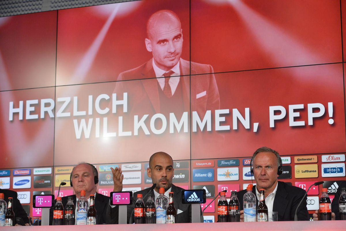 FC Bayern Munich - Presentation of new head coach Guardiola