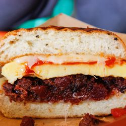Cutty's red flannel hash sandwich.