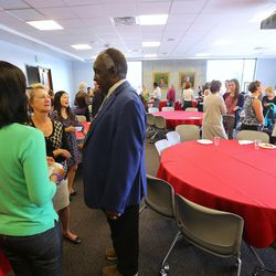 The University of Utah's College of Social Work holds a welcoming ceremony at it launches its Center for Research on Migration and Refugee Integration on Wednesday, Sept. 28, 2016, in Salt Lake City.