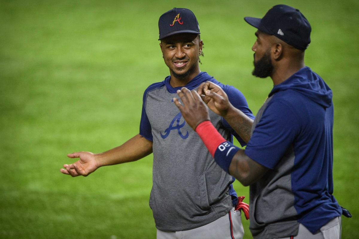 MLB: NLCS-Braves Workouts