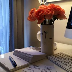 I'm fulfilling editor requests today—I always include a little handwritten note when I send products. <b>I love the toxic smell of Sharpies. If they made a gasoline-scented pen I would use that, too.</b>