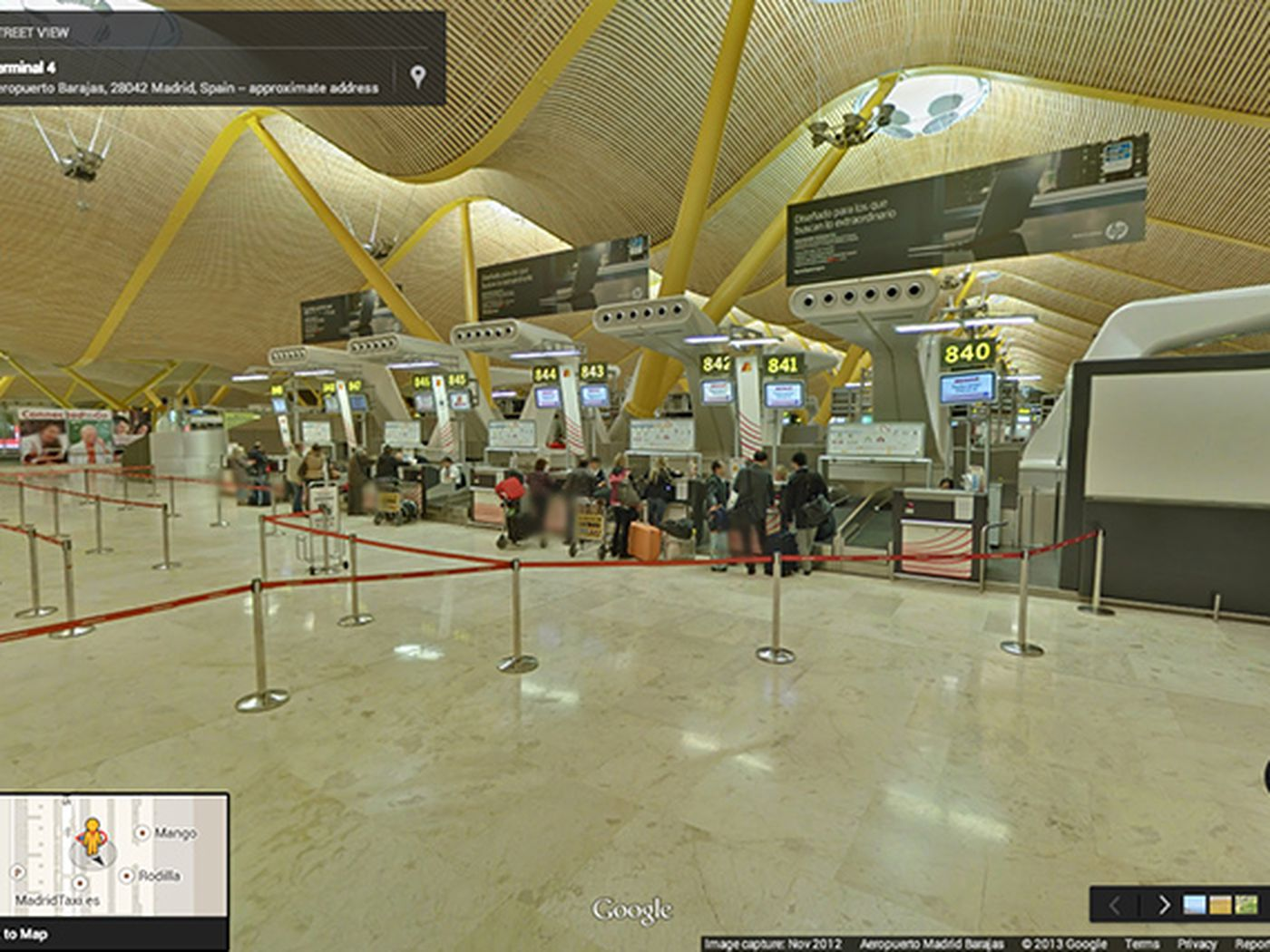 Google brings Street View inside more than 65 airports and
