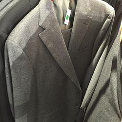 J. Press gray suit, $100