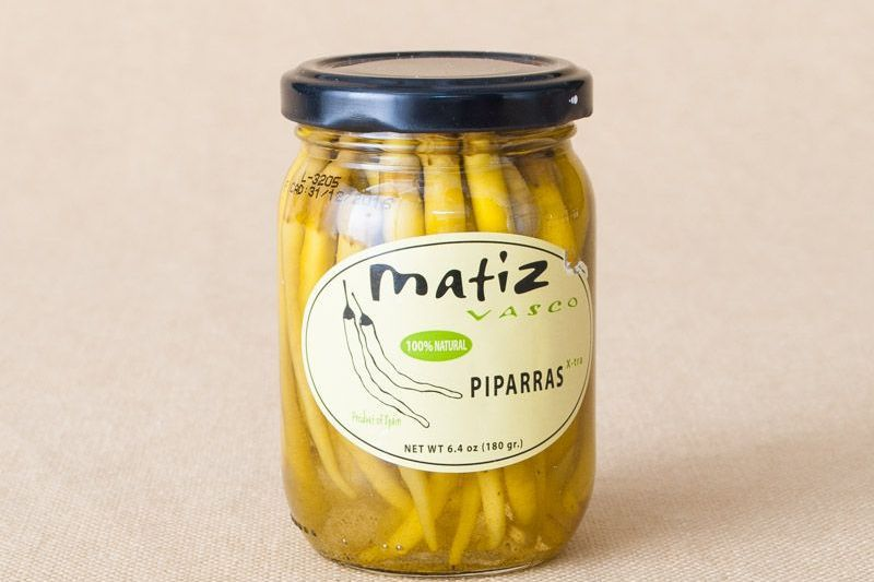 A jar of piparras