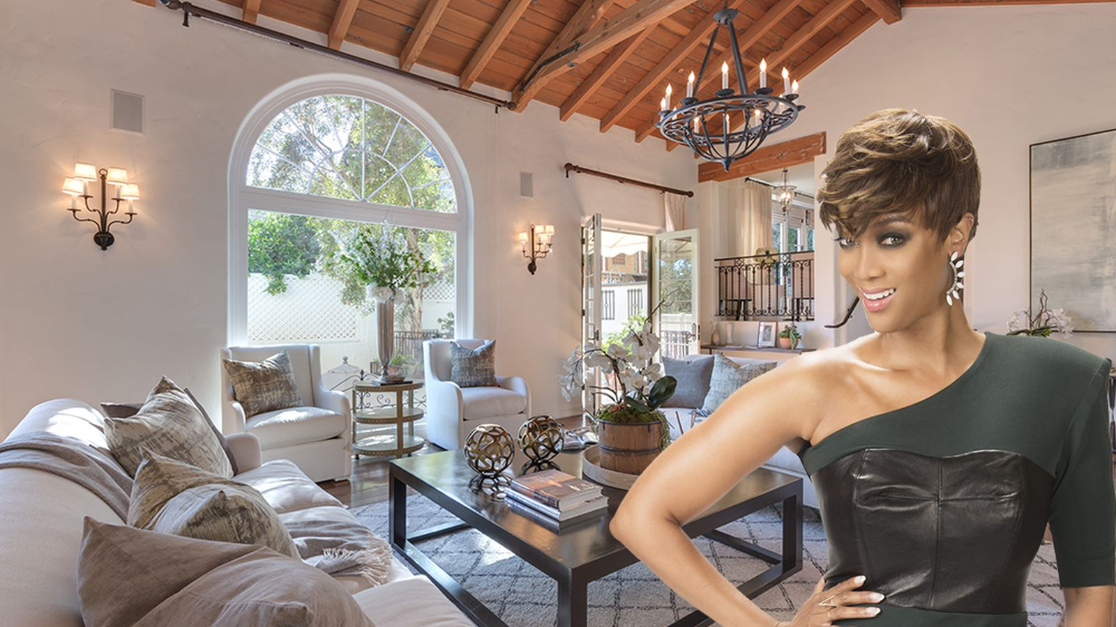 Ex Supermodel Tyra Banks Lists Spanish Style Estate In Bev