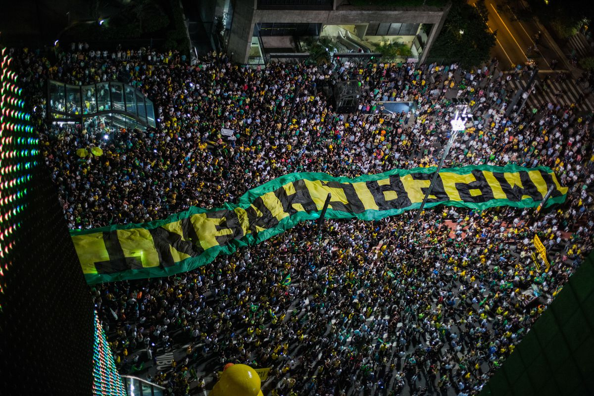 Protests Erupt In Brazil After Audio Tape Of Lula And Dilma Rousseff Is Released