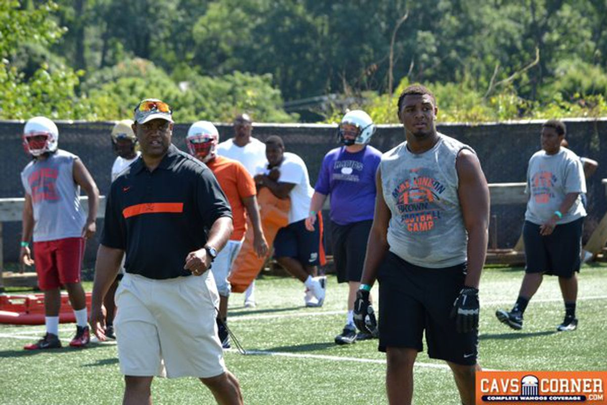 5-star Defensive Tackle Andrew Brown is one of Mike London's top priorities for 2014