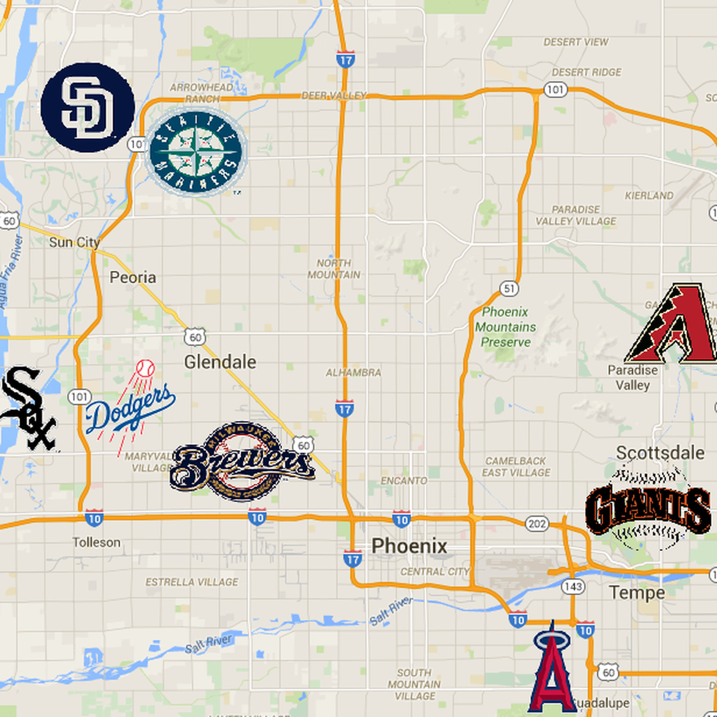 A Driver S Guide To Arizona Spring Training Bleed Cubbie Blue