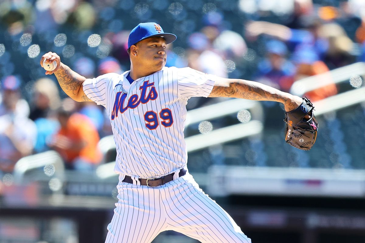 Taijuan Walker #99 of the New York Mets pitches in the first inning against the Baltimore Orioles at Citi Field on May 12, 2021 in New York City.