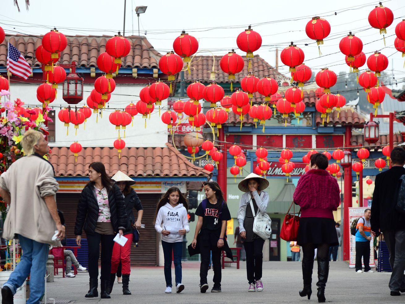 LA has some pedestrian-focused plazas like Chinatown's Gin Ling Way. But they do not create a network that help people get from place to place.