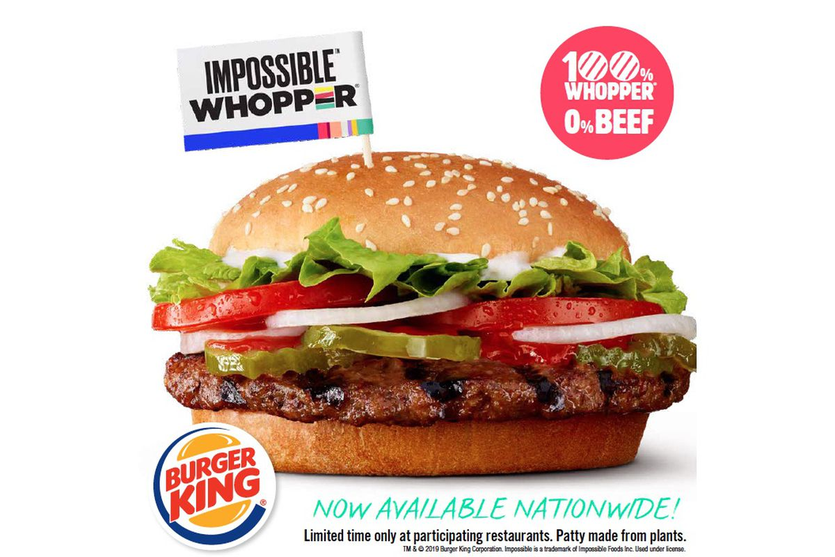 Burger King's nationwide rollout of the Impossible Whopper starts